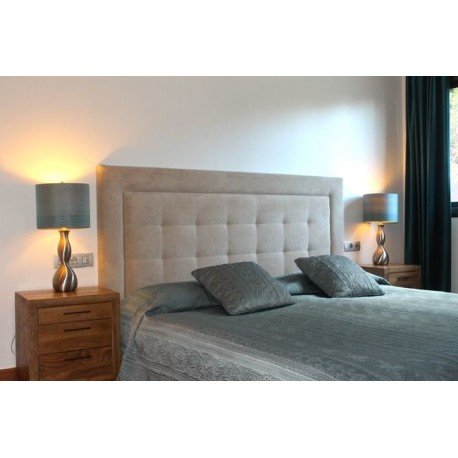 Cabecero de cama tapizado tapizado modelo 101 - Cabeceros de cama manuales ...