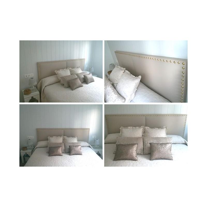 Cabecero de cama tapizado tapizado modelo 113 - Cabeceros de cama manuales ...