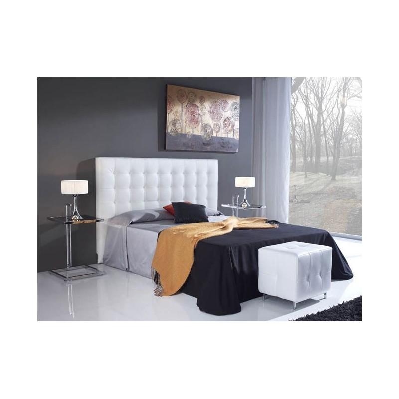Cabecero de cama tapizado tapizado modelo 103 - Cabeceros de cama blancos ...