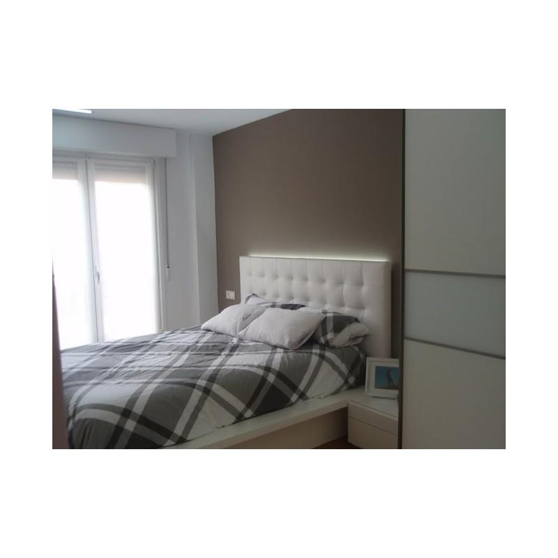 Cabecero de cama tapizado tapizado modelo 129 - Cabeceros de cama tapizados de tela ...